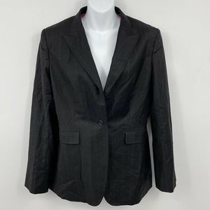 Brioni Blazer Jacket 48 Stripe One-Button Peak